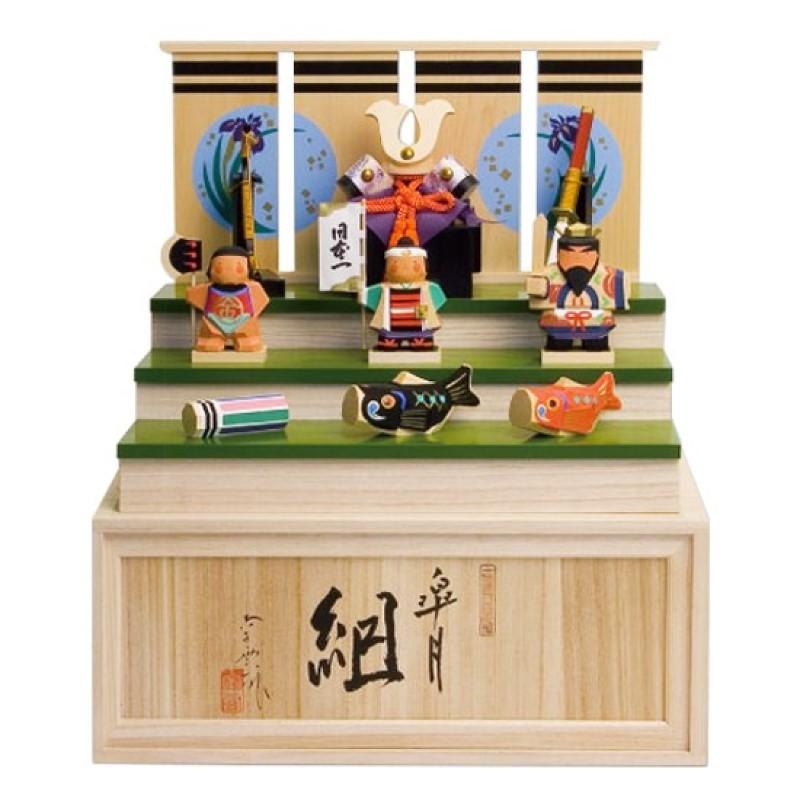 【4/1(月)14時間限定!!エントリーでPT最大30倍!!】 五月人形 木製 おしゃれ 南雲 皐月組