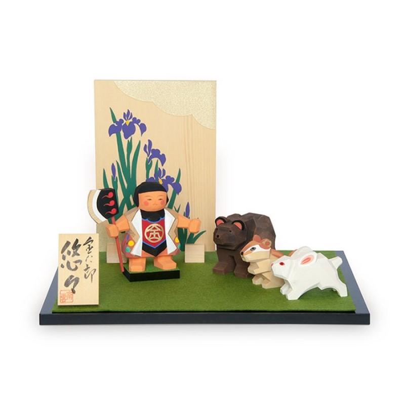 端午の節句 一刀彫 手作り 木製のお人形 おしゃれ 金太郎悠々 超特価SALE開催 信憑 南雲 五月人形
