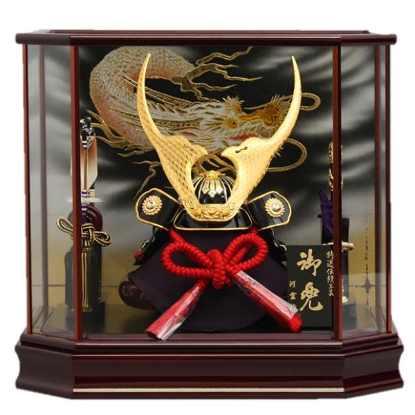 【10/31まで!カード限定エントリーでポイント最大12倍】送料無料 五月人形兜ケース飾り 貫前兜ゴールド