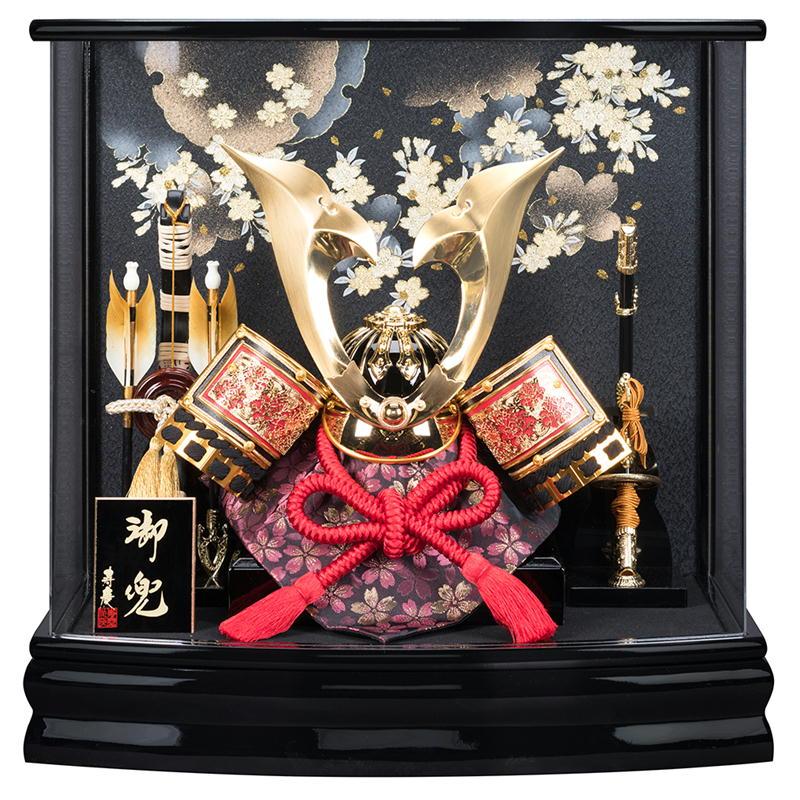 寿慶オリジナル 雪輪桜 兜ケース飾り アクリルケース おしゃれ
