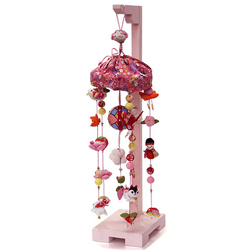 【10/31まで!カード限定エントリーでポイント最大12倍】つるし雛 スタンド 飾り台 うさぎ つるし飾り 雛人形寿慶 吊るし飾り 桃の花姫 小サイズ