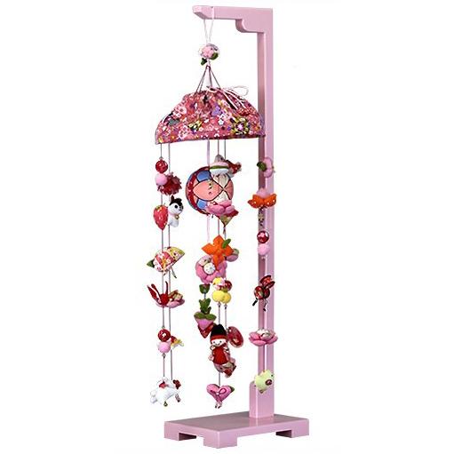 【10/31まで!カード限定エントリーでポイント最大12倍】つるし雛 スタンド 飾り台 うさぎ つるし飾り 雛人形寿慶 吊るし飾り 桃の花姫 中サイズ