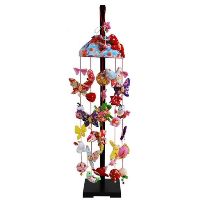 雛人形 ひな人形 つるし飾り つるし雛 スタンド 飾り台 吊るし飾り アゲハ蝶 中サイズ おしゃれ
