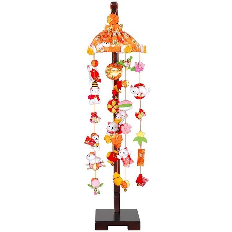 雛人形 ひな人形 つるし飾り つるし雛 スタンド 飾り台 吊るし飾り しろねこさんの吊るし飾り 中サイズ おしゃれ