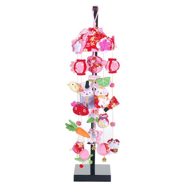 【10/31まで!カード限定エントリーでポイント最大12倍】雛人形 ひな人形 つるし飾り つるし雛スタンド 飾り台吊るし飾り ころりん うさぎ雛 小サイズ