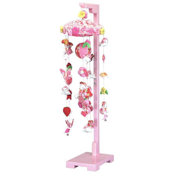 つるし雛 スタンド 飾り台 うさぎ つるし飾り 雛人形 寿慶 吊るし飾り たれ耳うさぎ 中サイズ おしゃれ