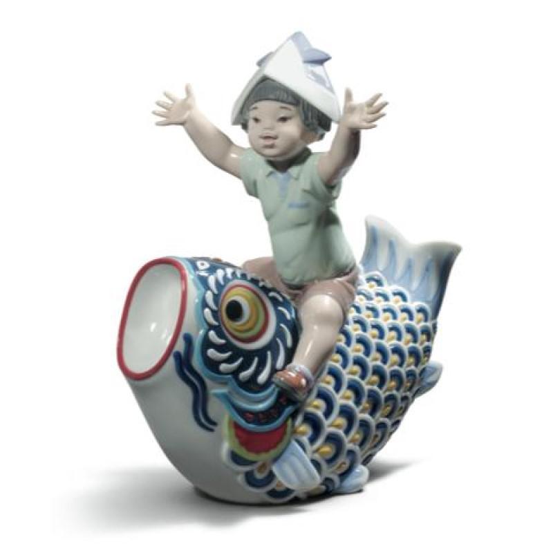 リヤドロ LLADRO 五月人形鯉のぼり HAPPY KOINOBORI