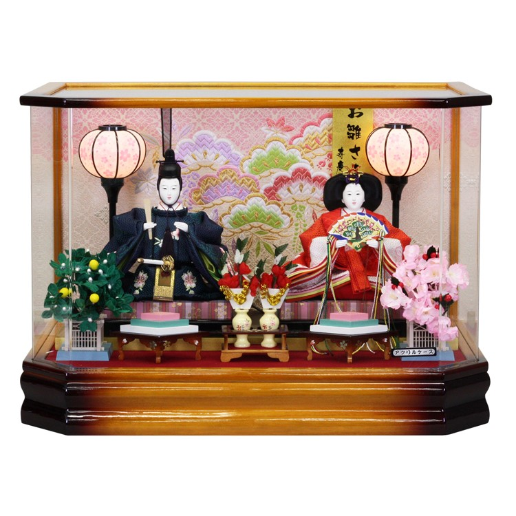 雛人形 ひな人形 ひな人形 ケース飾り ケース送料無料寿慶 六角家具調 アクリルケース, でんKING:7941c9b5 --- sunward.msk.ru