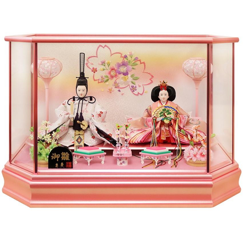 【10/31まで!カード限定エントリーでポイント最大12倍】雛人形 ひな人形 ケース飾り ケース小さい かわいい 送料無料寿慶 パールピンク塗ケース飾り