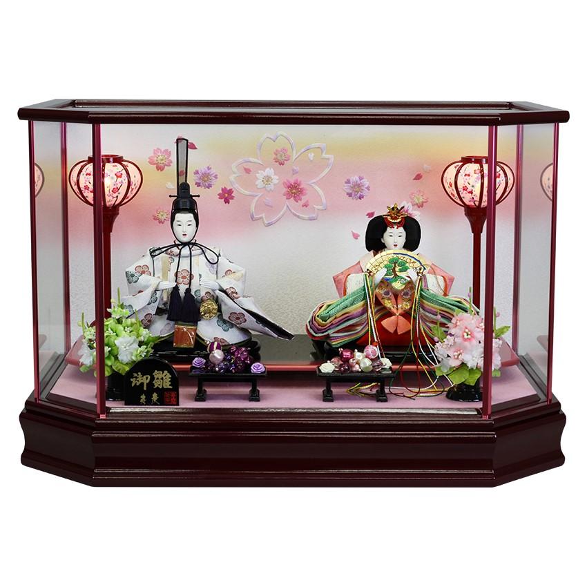 【10/31まで!カード限定エントリーでポイント最大12倍】雛人形 ひな人形 ケース飾り ケース送料無料 寿慶 六角ワインケース 舞桜