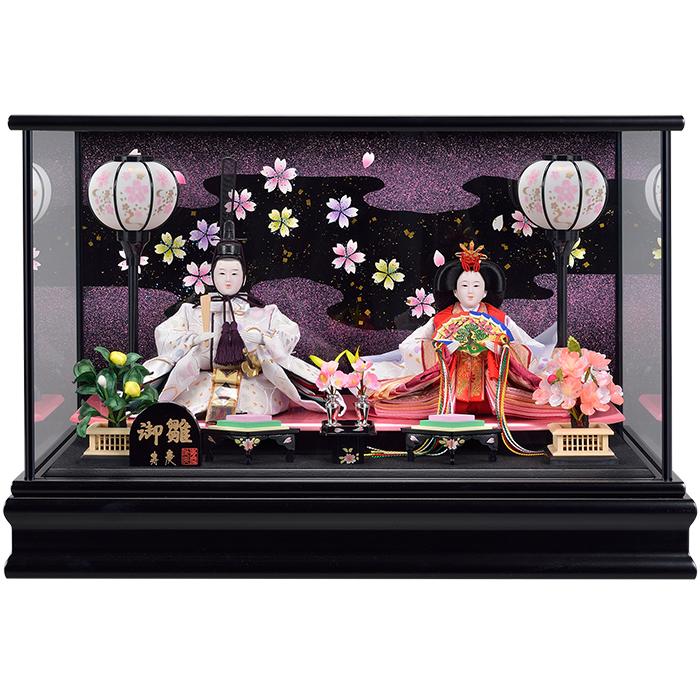 雛人形ケース ひな人形ケース 時間指定不可 ひな人形ケース飾り 送料無料 マンション 日本正規代理店品 コンパクトサイズ 雛人形 雛 黒塗ケース おしゃれ ひな人形 親王ケース飾り ケース飾り コンパクト