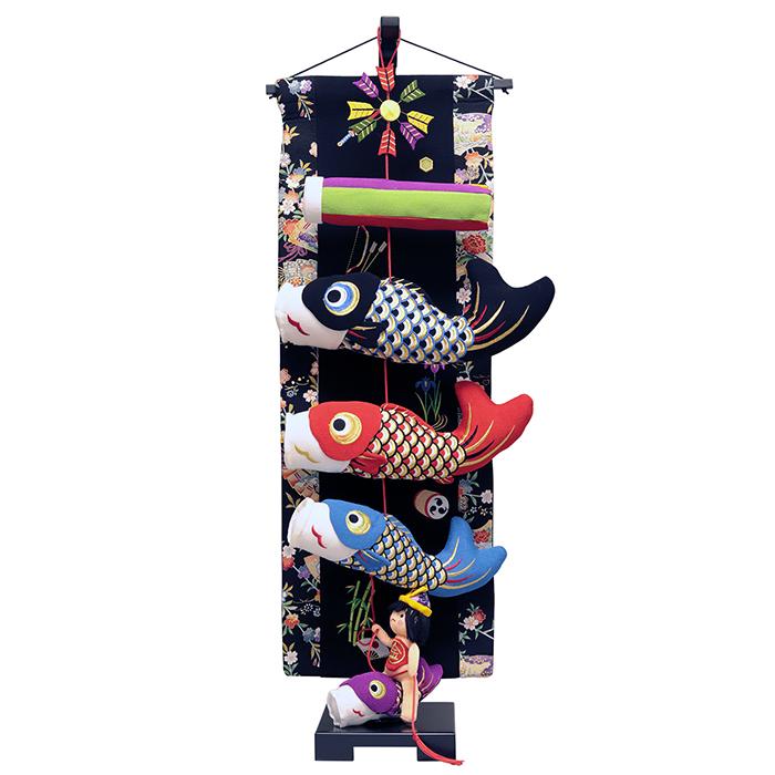 【10/31まで!カード限定エントリーでポイント最大12倍】五月人形 脇飾り 室内用 こいのぼり翔べ!翔べ!金太郎鯉のぼり 中サイズ