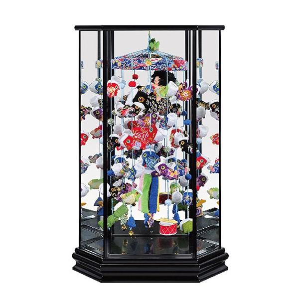 【五月人形 つるし飾り 室内鯉 出産祝 インテリア ケース飾り】寿慶 六角ケース飾り 祝い鯉