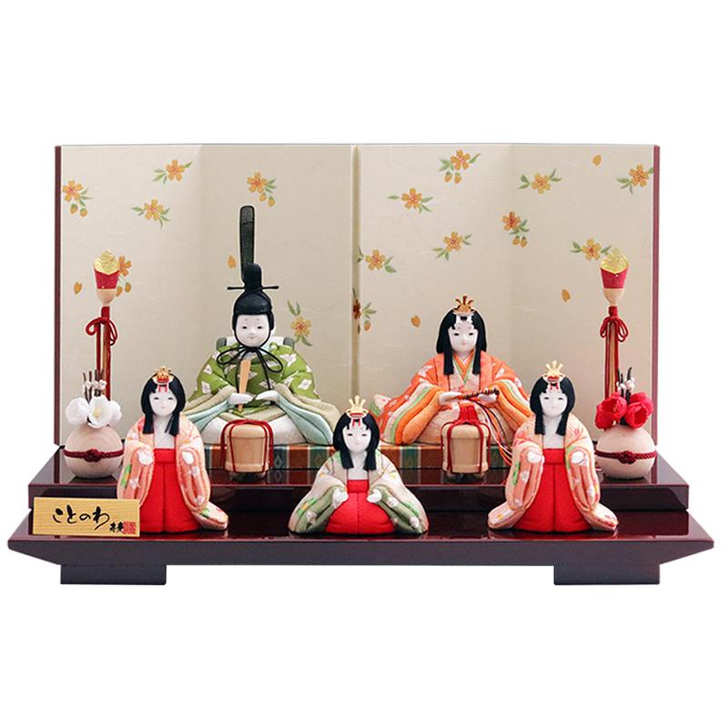 雛人形 かわいい コンパクト おしゃれ 真多呂×寿慶 人形のこどもや本店オリジナル ことのわ 木目込み親王飾り 金襴 大 おしゃれ
