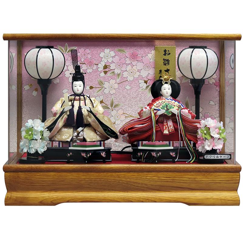 雛人形ケース ひな人形ケース ひな人形ケース飾り 送料無料 マンション 推奨 ファッション通販 コンパクトサイズ 雛人形 親王ケース飾り 雛 コンパクト ケース飾り 木目パノラマケース おしゃれ ひな人形