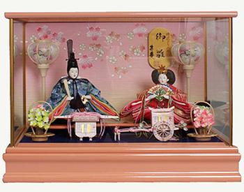 【10/31まで!カード限定エントリーでポイント最大12倍】雛人形 ひな人形 親王ケース飾り ケース友禅衣装 ピンク塗ケース