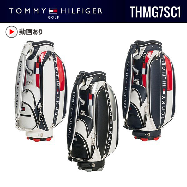 (ホワイト・ブラック即出荷可!)トミーヒルフィガーゴルフ THMG7SC1 2018春夏TOMMY HILFIGER 送料無料 ザ フェースキャリーバッグモデル トミーヒルヒガー キャディバッグ グルッペ JUKO.IN