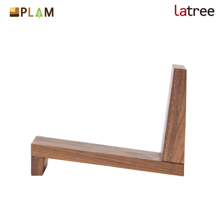 ストア 2020新作 ウォールナット材 斜めに本を収納 無垢材の重さがちょうどいい 本たて PLAM Latree ブックスタンド4 ウォルナット PL1FUN-0260250-WNOL 北欧 プラム 木製 本立て ブックエンド 幸せインテリア 飛騨家具 ラトレ 小さな無垢の木