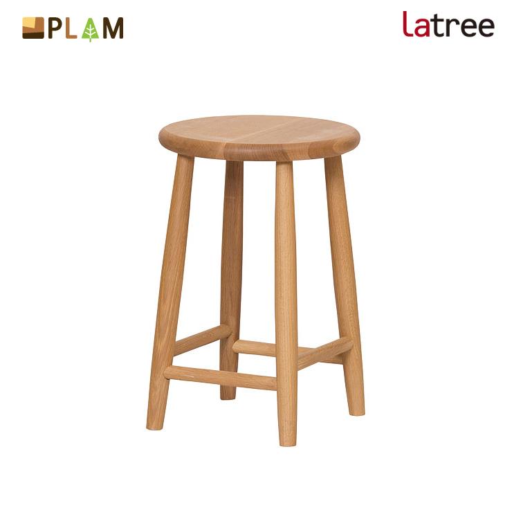 【月末限定クーポン!】PLAM Latree スツール1 オーク 小さな無垢の木 幸せインテリア 飛騨家具 プラム ラトレ 木製 北欧 椅子 飾り台