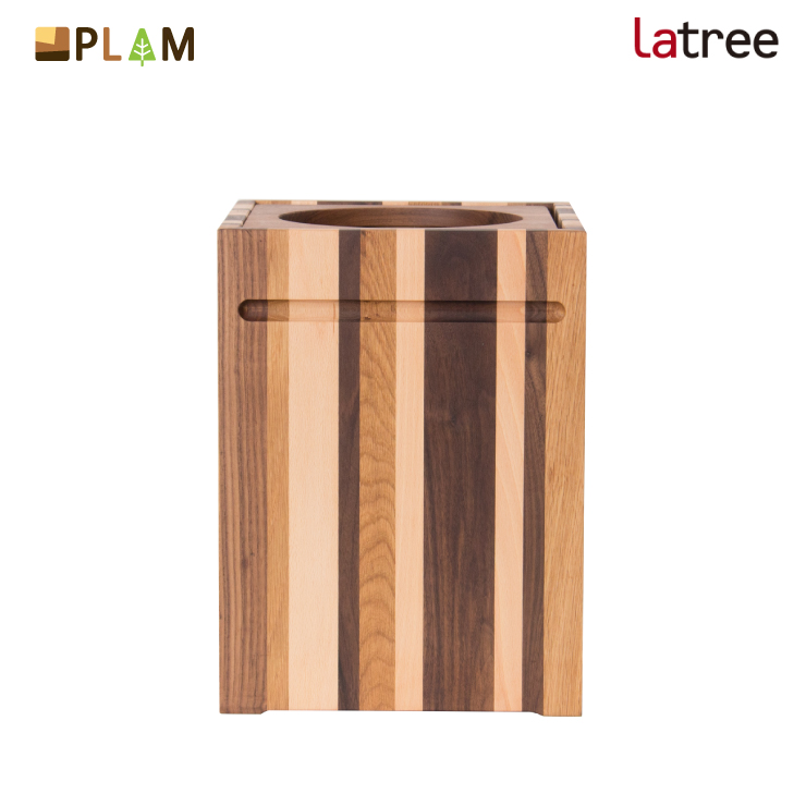 【月末限定クーポン!】PLAM Latree ゴミ箱1 モザイク PL1ONE-0110260-MXOL 小さな無垢の木 幸せインテリア 飛騨家具 プラム ラトレ / ごみ箱 おしゃれ 木製 フタ付き ウッド ナチュラル 木目