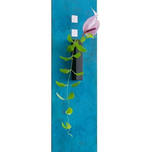 【受注生産】on the wall  タペストリー型花器 |モメンタムファクトリー・Orii(momentum factory Orii) 高岡銅器 オリイ ブルー