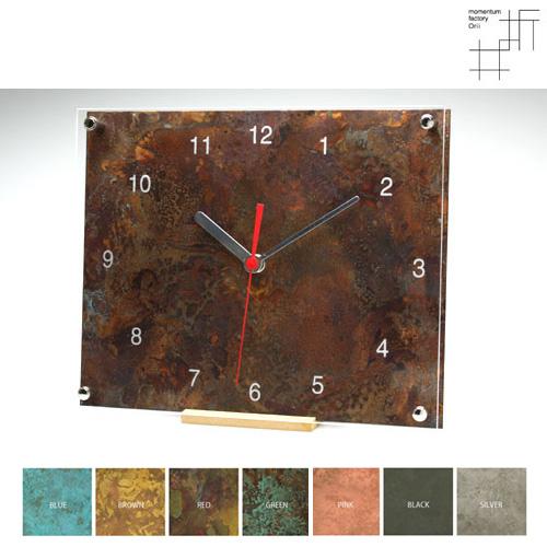 【受注生産】time and space スクエア 掛・置時計|モメンタムファクトリー・Orii(momentum factory Orii) 高岡銅器 オリイ ブルー