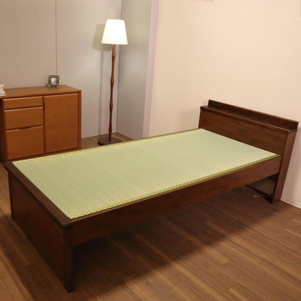 ナゴミ 畳ベッド ダブルサイズ 角に丸みのあるデザイン 国産ベッド F☆☆☆☆ パイン材 日本製畳としっかりとした木製フレームが魅力