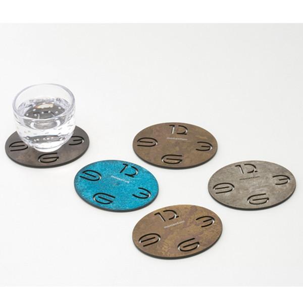 【受注生産】oval coaster 5枚組(5色セット) コースター|モメンタムファクトリー・Orii(momentum factory Orii) 高岡銅器 オリイ ブルー ビンテージ 男前 ギフトに人気です