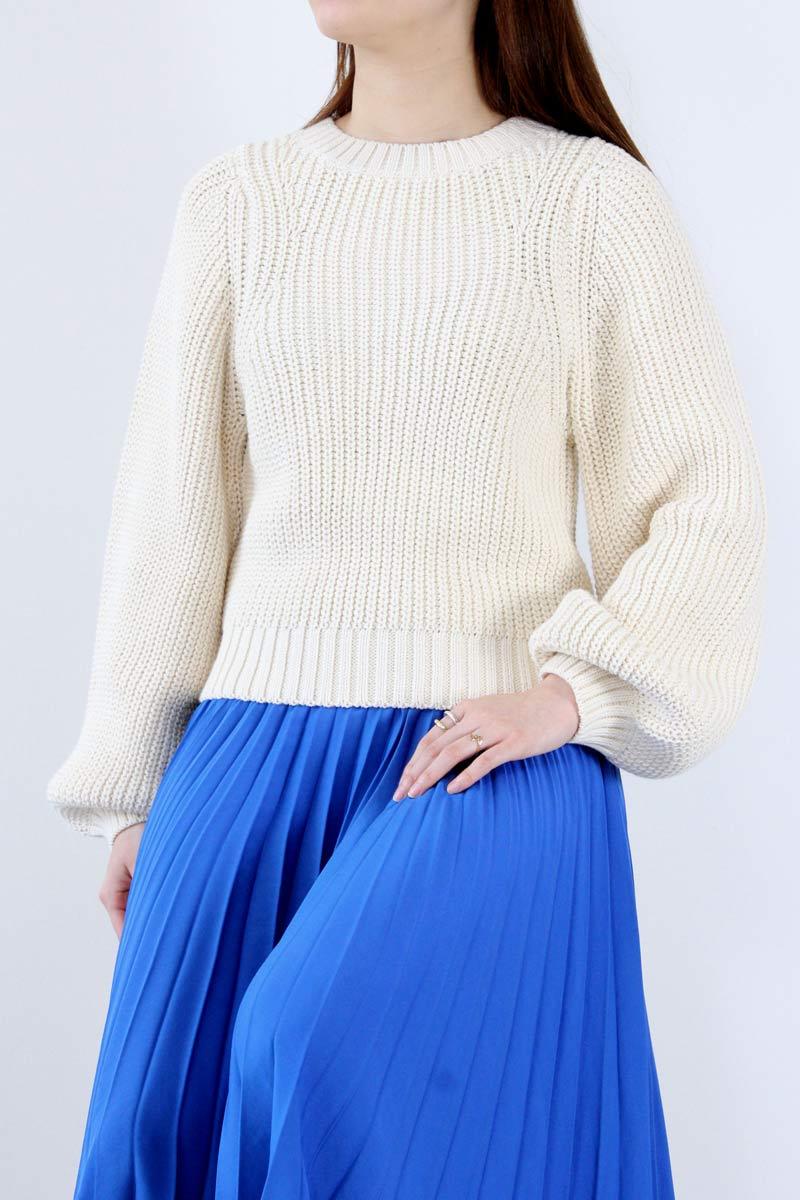 【SALE】【送料無料】【レディース新品】SHAINA MOTE (シャイナモート) CLEMENTSWEATER ボリュームスリーブセーター NATURAL[NEW]