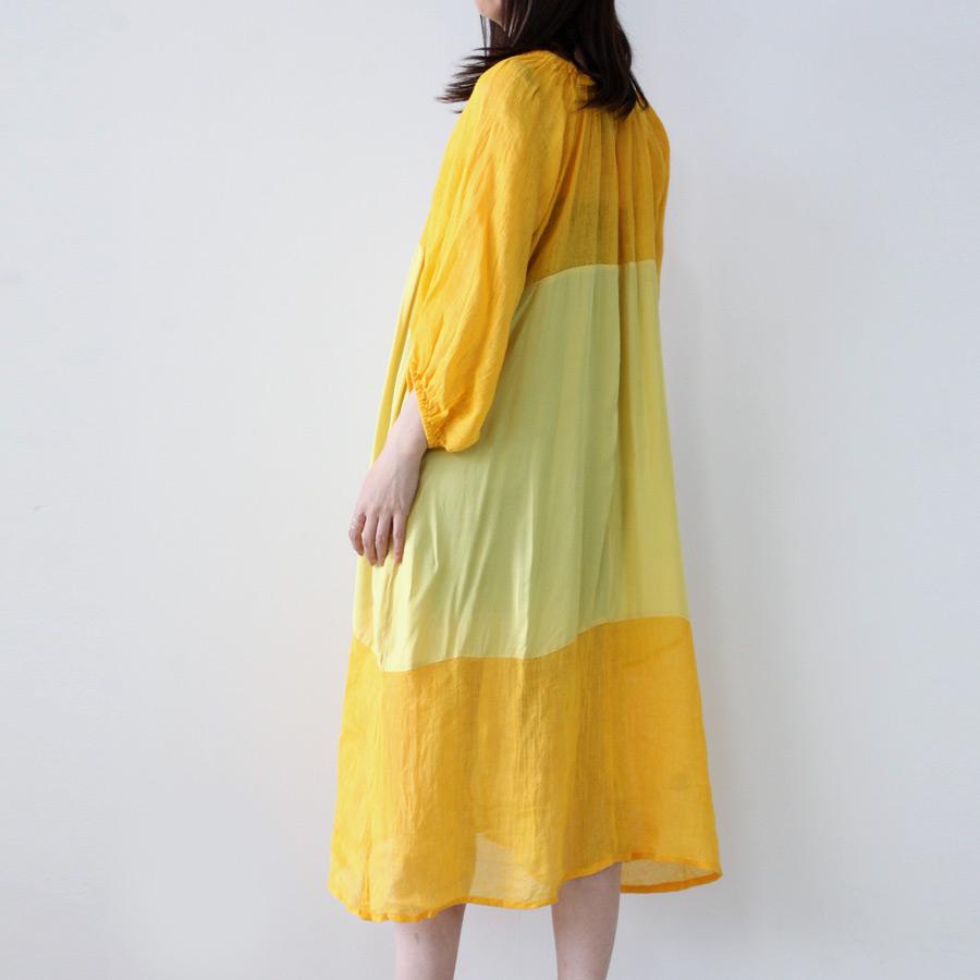 【SALE】【送料無料】【レディース】【新品】NIKKI CHASIN(ニッキー チェジン)(WOMENS) BALLAD DRESS TANGERINE / MAIZE 切り替え ワンピース[NEW]