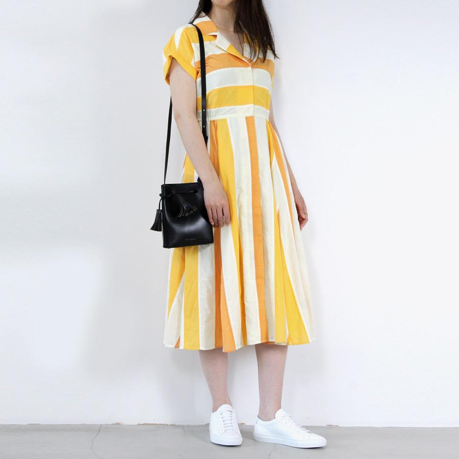 【SALE】【レディース新品】【送料無料】NIKKI CHASIN (WOMENS) ニッキー チェジン RALLY DRESS 配色 ワンピース TANGERINE MULTI [NEW]