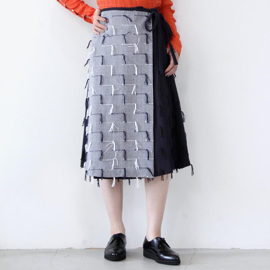 【SALE】【送料無料】【レディース】【新品】NIKKI CHASIN(ニッキー チェジン) JETTY WRAP SKIRT ジェティラップスカート TWO TONE FRINGE [NEW]