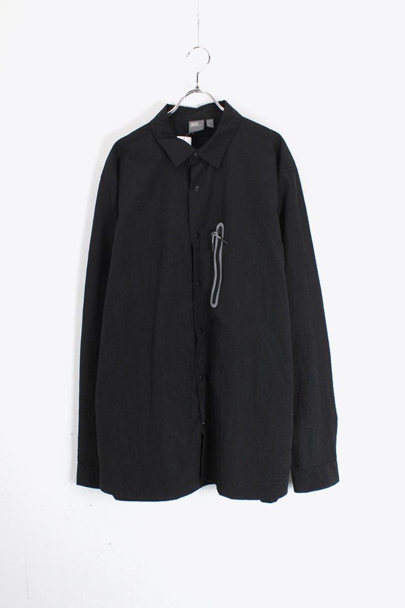 当店厳選のNY買い付け一点物 中古 ASOS 割り引き エイソス NYLON COATH SHIRT JACKET ラッピング無料 USED 2XL コーチ SIZE: ジャケット ナイロン BLACK シャツ
