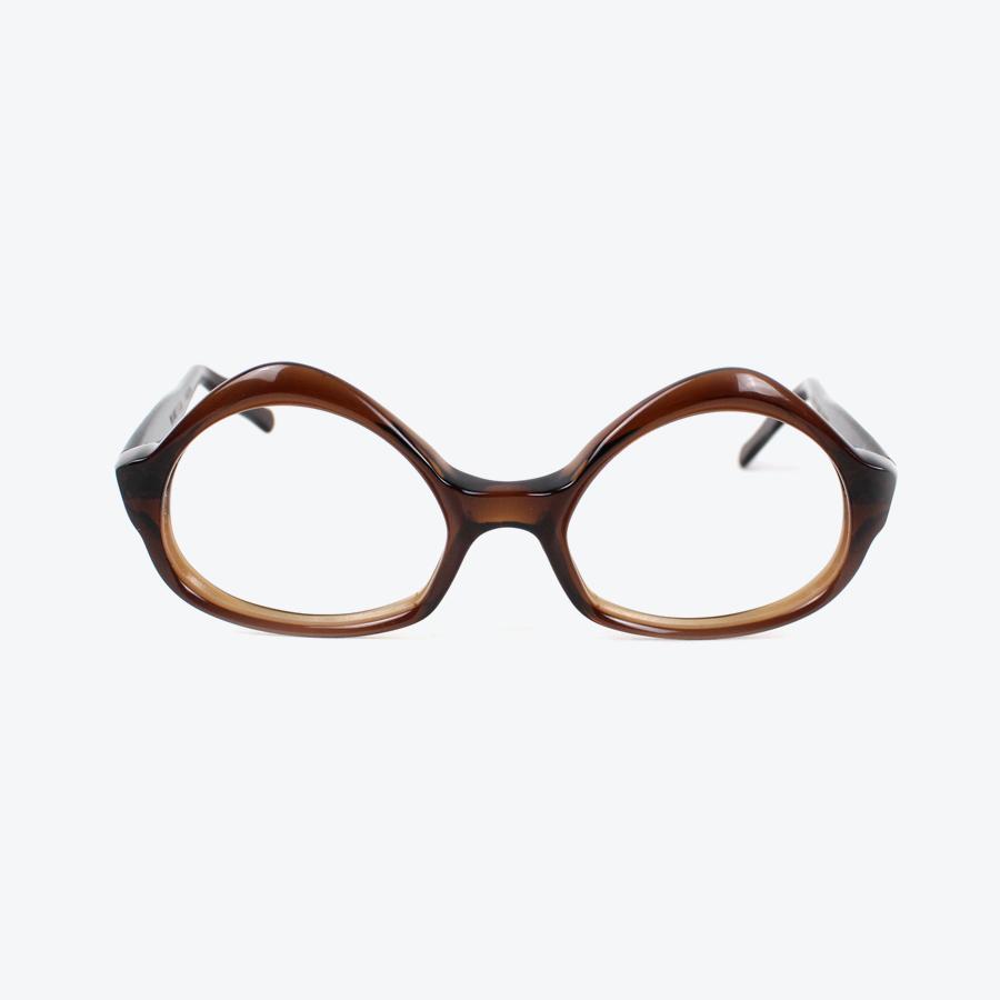 【中古】【送料無料】(KA) VINTAGE GLASSES (ヴィンテージ グラス) MADE IN FRENCH 60'S VINTAGE GLASSES フランス製 60年代 ヴィンテージ グラス BROWN [SIZE:48/20 USED]