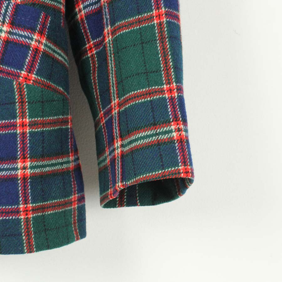 WOMENSKAPENDLETON ペンドルトン80'S MADE IN USA WOOL CHECK TAILORED JACKET 80年代 USA製 ウール チェック テーラード ジャケット GREEN REDSIZE12 USEDxBerodWC