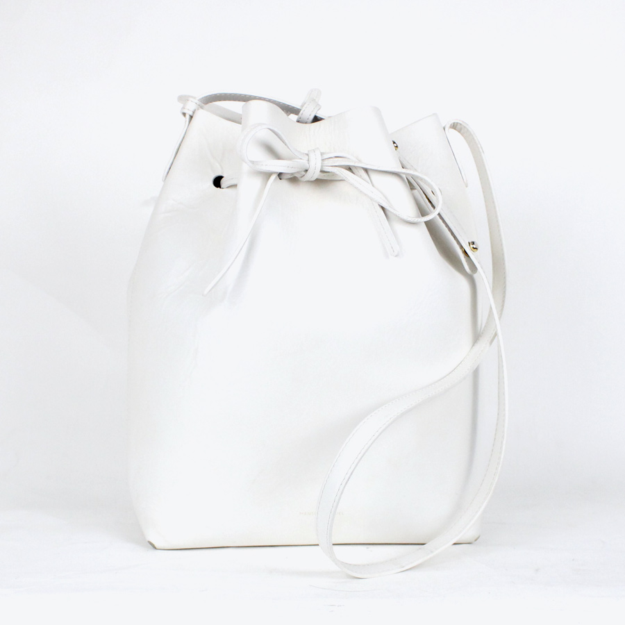 【WOMENS】【中古】【送料無料】(KA) MANSUR GRAVRIEL (マンサーガブリエル) MADE IN ITALY LEATHER SHOULDER BAG W/MINI BAG イタリア製 レザーショルダー バッグ ミニバッグ付き WHITE [SIZE:ONE SIZE USED]