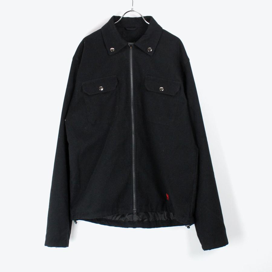 【中古】【送料無料】(KA)(N19-78) CHROME (クロム) L/S SHIRT JACKET 長袖 シャツジャケット BLACK [SIZE:XL USED]