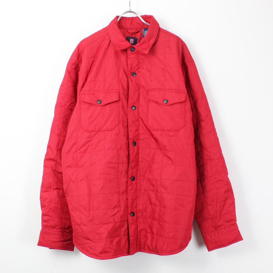 【中古】(KO)CHAPS(チャップス)90'S QUILTING SHIRT JACKET 90年代 キルティング シャツ ジャケット RED [SIZE: L USED]