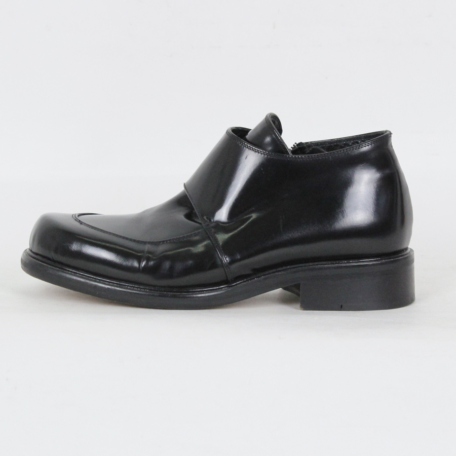 【WOMENS】【中古】【送料無料】(KA) ENZO (エンゾ) MADE IN ITALY SQUARE TOE SIDE ZIP LEATHER SHOES イタリア製 スクエア トゥ サイド ジップ レザー シューズ [SIZE: US35 1/2(23cm) USED]