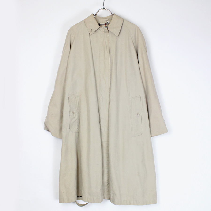 【WOMENS】【中古】【送料無料】(KA) BURBERRY'S PRORSUM (バーバリープローサム) 80'S COAT コート BEIGE [SIZE: L相当 USED]