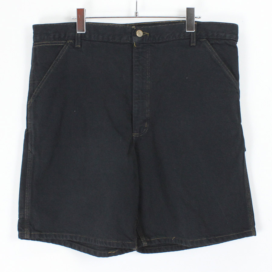 【中古】(KA) CARHARTT (カーハート) MADE IN USA GARMENT DYED PAINTER SHORTS USA製 後染め ペインター ショーツ BLACK [SIZE:38 USED]