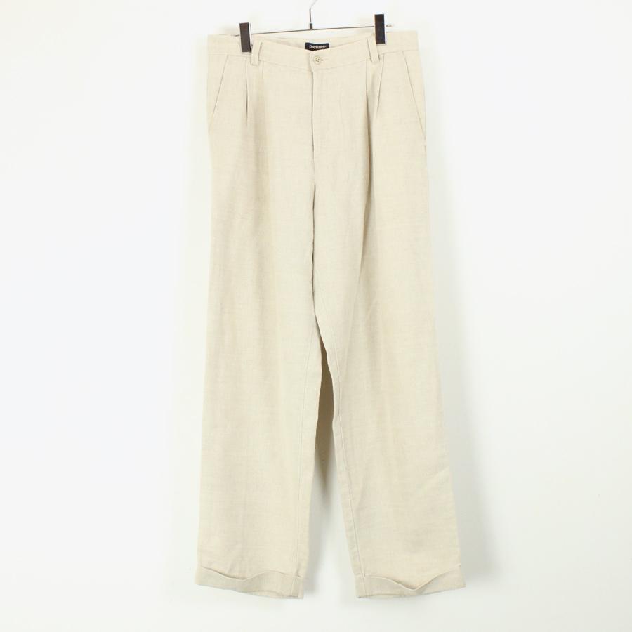 【中古】【送料無料】(KA) DOCKERS (ドッカーズ) LINEN TUCK SLACKS PANTS リネン タック スラックス パンツ BEIGE [SIZE: 32x32 USED]