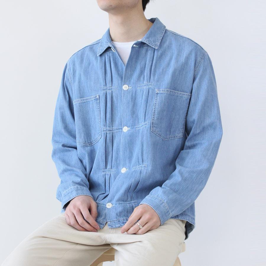 【SALE】【メンズ新品】【送料無料】YOU MUST CREATE(ユーマストクリエイト)KIT SHIRT デニムシャツジャケット INDIGO BLEACH [NEW]