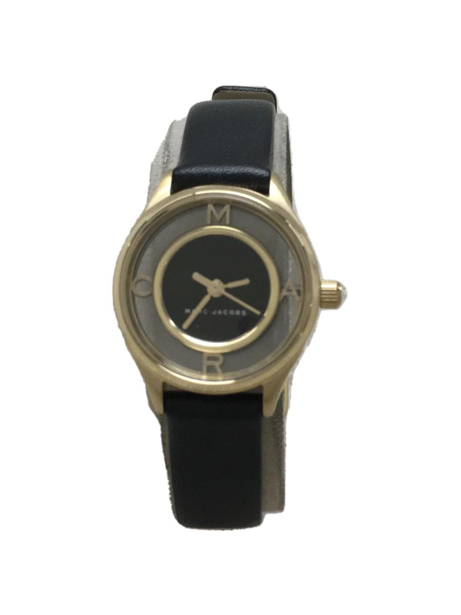 【中古】MARC JACOBS◆クォーツ腕時計/アナログ/--/BLK/BLK【服飾雑貨他】