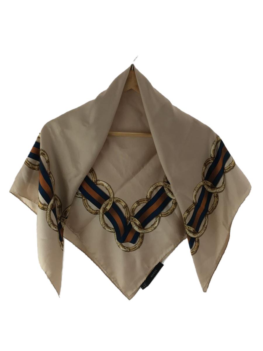 25%OFF 中古 GUCCI 期間限定特価品 スカーフ 服飾雑貨他 ベージュ シルク