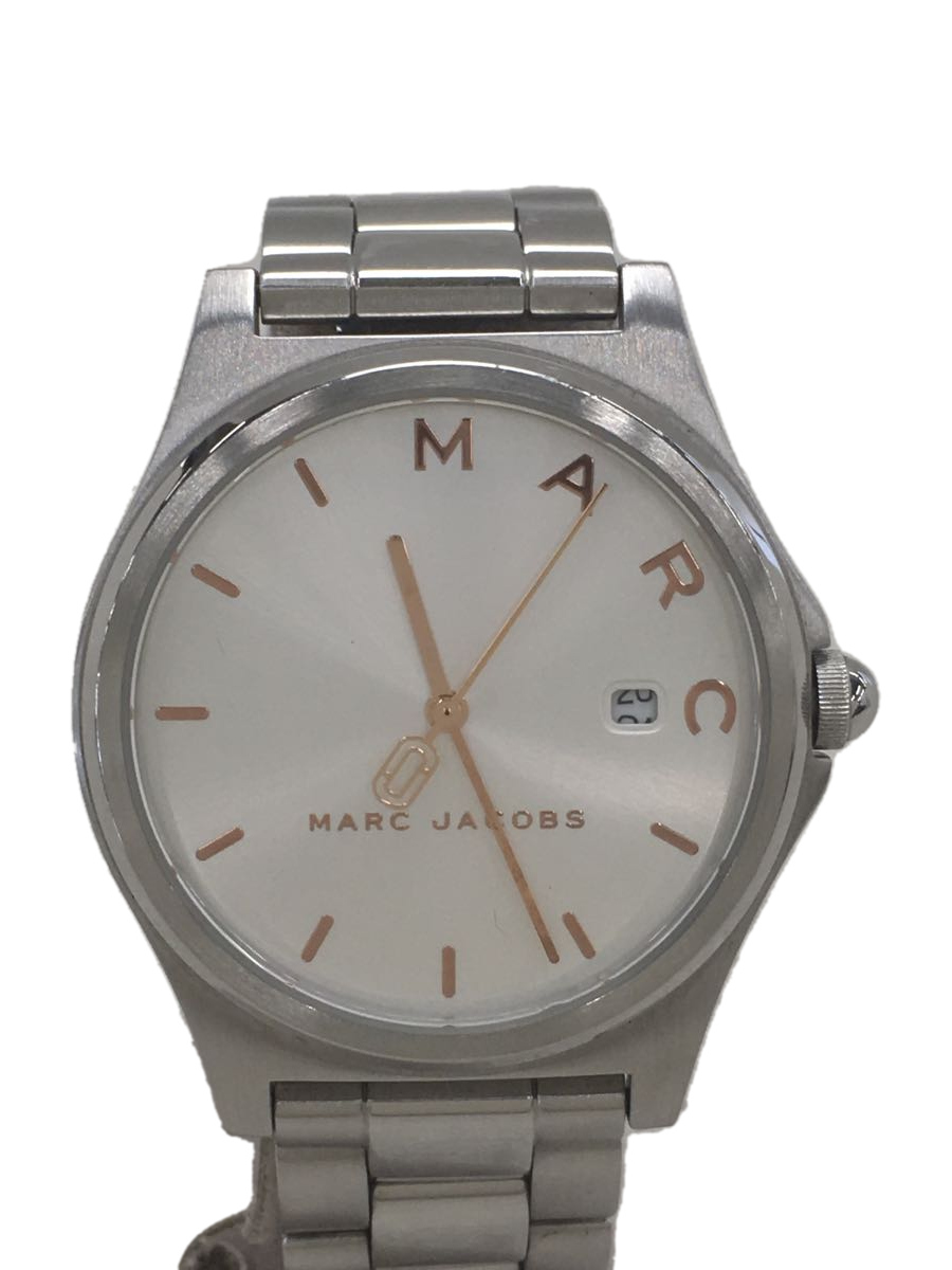 【中古】MARC JACOBS◆クォーツ腕時計/アナログ/SLV/ベルト、キズアリ【服飾雑貨他】