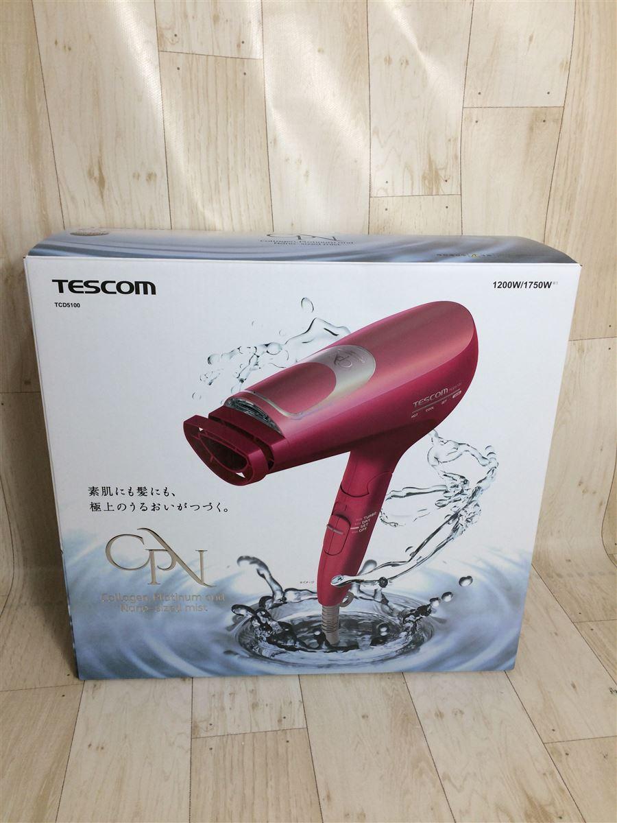 中古 TESCOM ドライヤー ヘアアイロン TCD5100-P 通販 激安 家電 新作販売 スムースピンク オーディオ ビジュアル