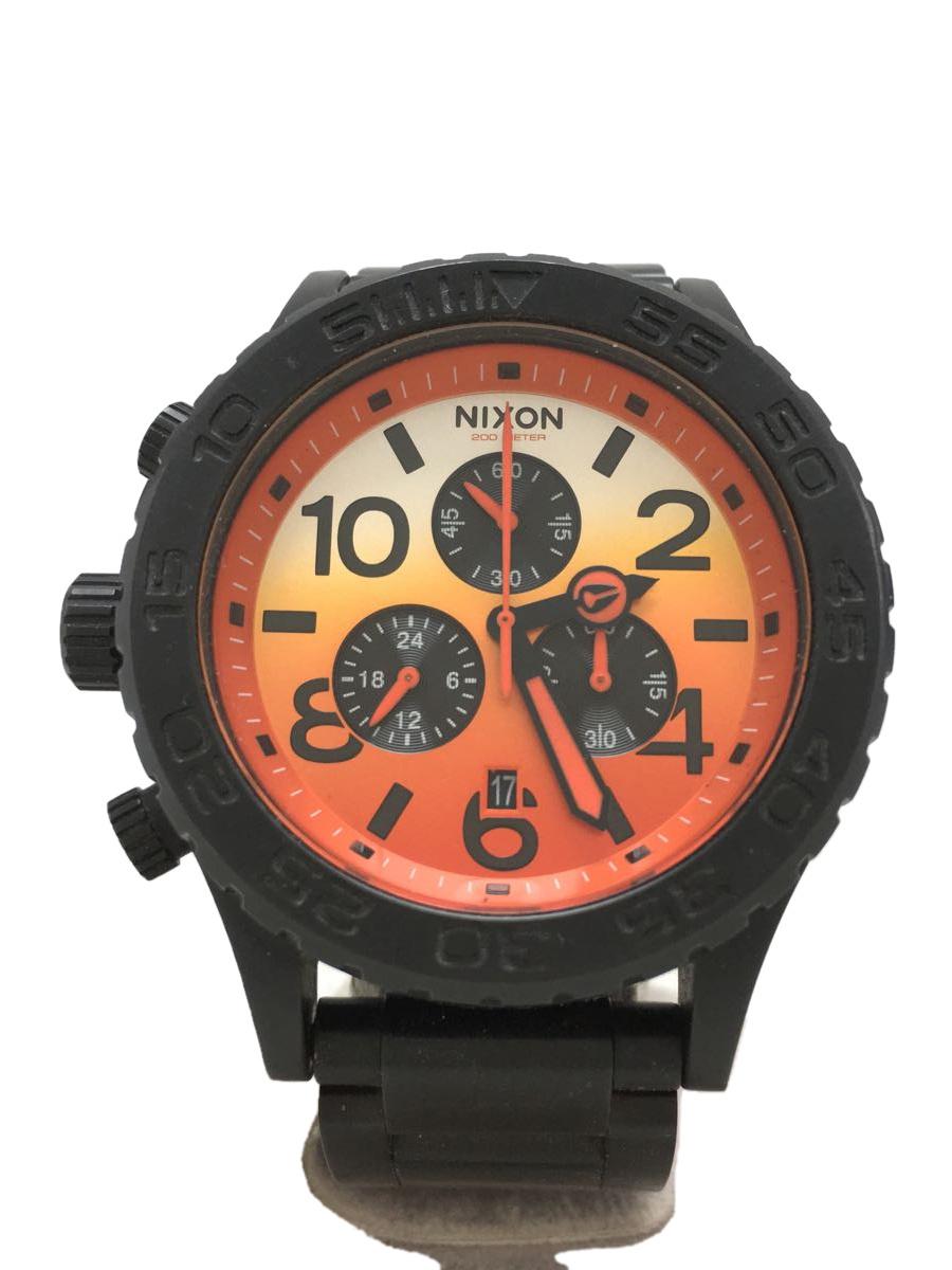 中古 NIXON THE 42-20 ALL BK クォーツ腕時計 アナログ オレンジ×ブラック SUNRISE ☆新作入荷☆新品 ストア 服飾雑貨他