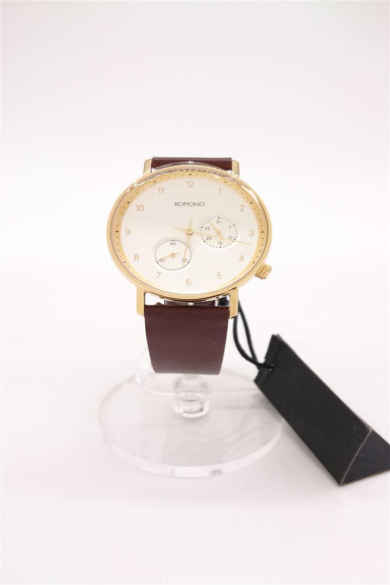 中古 KOMONO 70%OFFアウトレット クォーツ腕時計 アナログ -- BRW WHT 服飾雑貨他 KOM-W4005 安い
