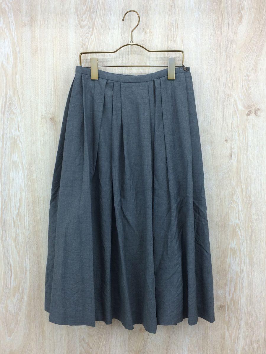 【中古】Tailor The Dress(テイラーザドレス)/タックスカート/S/タグ付き/GRY【レディスウェア】